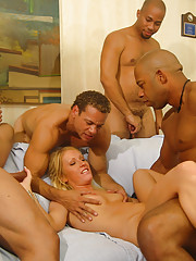 Cameron told us that she liked black cock, although she's never been with four guys at the same time.