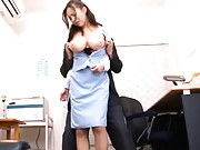 Ruri Saijo Asian is punished to have huge tits fondled by boss