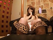 Saya Mizuki Asian is shy when she gets mauve vibrator to use