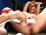 Kokomi Naruse Asian squirts on camera from vibrator on poonanie