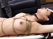 Sora Aoi Asian busty screams with boobs in ropes and slit fucked