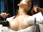 Maria Ozawa Asian is tied and teased with vibrators on her boobs