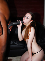 With a schlong like a baseball bat, this insane cock brotha was ready and willing to plow pretty Gina's ass and give her a little taste of what monster cock feels like.