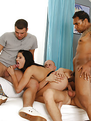 Lucy shows up to fire the entire work crew, but at least she has some alternative employment options to offer - like fucking all her holes until she screams with orgasmic pleasure, for example.