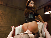 Russian girl is sodomized and dominated by hot MILF.