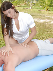 Hot babe samantha gets her hot hairy big bush pounded hard in these hot outdoor park fucking pics