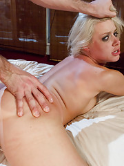 Hot Blonde destroyed with rough sex and bondage!
