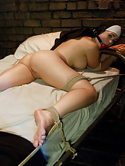 Shameful nun tied up, punished and fucked in every hole by Priests!