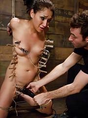 Beautiful girl enjoying rough bondage sex with anal!