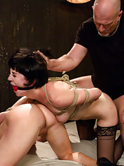 Two submissive sluts compete in hardcore BDSM sex!