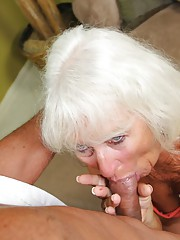 Jeannie Lou Granny Blowjob - See Mom Suck