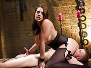 Mistress Chanel Preston teases and tortures her premature ejaculating slaveboy!
