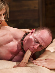 Brat princess Chastity Lynn cuckolds her older slave with a college guy and dishes out even chastity and humiliation!