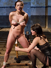 Penthouse Pet of the Year, Taylor Vixen, gets dominated and fucked by Bobbi Starr for her VERY first time ever in a hardcore lesbian bondage scene!
