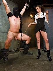 Princess Donna dominates her slave and gets off on his pain