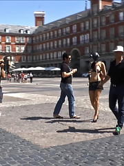 Dragged around Madrid in a pig mask. Tied up, humiliated, beaten and fucked. Observe this common swine squirt, squeal, squirm and cream!