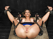 Orlando returns to torment amazing flexible MILF Sara Jay with sybians, hand held fucking machines, breast bondage, and his specialty PAIN!