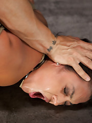 Brutal face fucking and intense sexual training sum up Adrianna