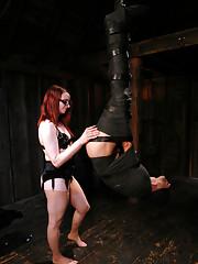 Mistress Claire Adams in Heavy Bondage scene