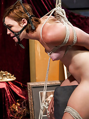 Sister Felony punishes and strap-on fucks two co-ed