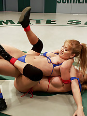 Watch the annihilation!! When two hot bitches face off Ultimate Surrender style someone ends up eating fat cock and submits to a piledriving massacre