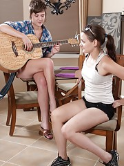 Jane gives hairy girl Jackie Paige a song