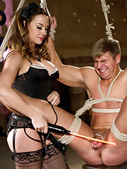 Chanel Preston tortures slaveboy keeping him in chastity the entire time and taunting him mercilessly with her beautiful pussy and tongue.