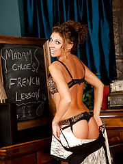 Teacher Chloe gets naughty while giving her lessons