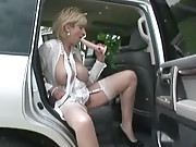 Kinky milf outdoors