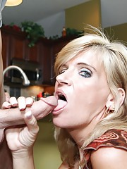 When Joey cant figure out his homework Mrs Crystal Jewels tries to help him. But poor Joey cant concentrate with his step moms tits hanging out. So the perverted milf says shell suck his cock