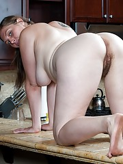 Lindsay gets busy in the kitchen