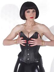 Rubber clad mistress