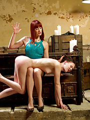 Maitresse Madeline punishes, suspends and ass fucks all natural adorable local masochist girl giving her a full day of lesbian BDSM and hardcore sex.