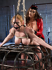 Ariel X shows Darling with tough bondage and lesbian punishment and kinky sex why she is the toughest in the biz.