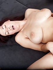 Gorgeous hairy girl Vanessa J shows her tits