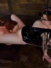 Trinity post gets fisted while in bondage