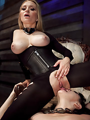 Goddess Aiden trains slave slut Coral Aorta