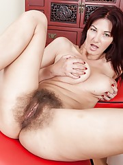 Hairy girl Vanessa J is very curvaceous