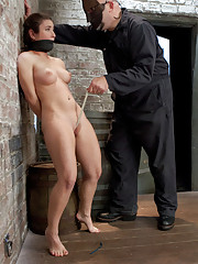 Serena Blair gets treated rough and manhandled by Sgt Major with a crotch rope walk, challenging hogtie suspension, clothespins, and more!