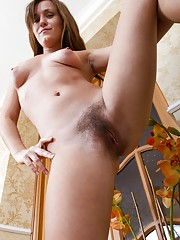 Hairy doll Era shows how flexible she is