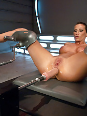 Ariel X is AWESOME -she fucks our robot dicks in half, takes massive cock in her butt, squirts everywhere & lets us suck, clamp and abuse her nipples