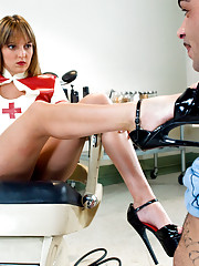 Nurse Lexi Love fucks slave boy