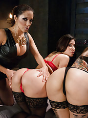 Big tits and ass anal latin girls, fisting and strap-on!