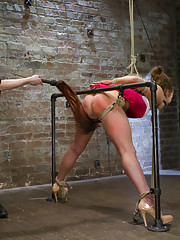20 year old Ashlynn gets broken in and ginger haired Odile gets put to the test as these two new bitches get shown the ropes on HogTied.