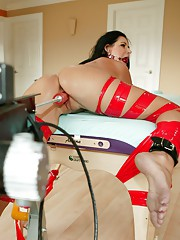 Nasty MILF gets massage then tied while getting fucked!