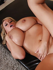 Crazy slut with massive juggs shows big love for the cock
