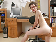 Tiffany does a hirsute porn at work