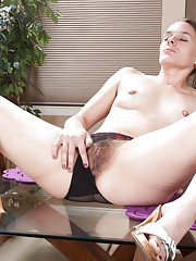 Hairy girl Jackie Paige is seeing spots