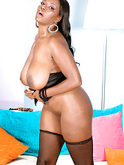 Ebony in Stockings