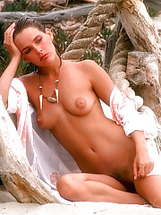 "Phillip Dixon, the Playboy photographer who shot the pictures you see here, describes Kathryn Morrison as ethereal. ""She"